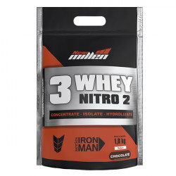 3 Whey Nitro 2 Chocolate 1,8kg New Millen