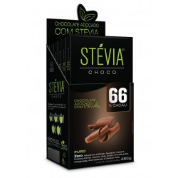 StéviaChoco 66% Cacau Display 480g